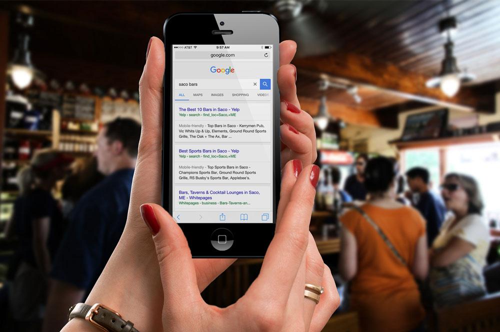 Googling in a bar